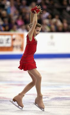 Elena Radionova,2014 Skate America, Red figure skating dress inspiration for Sk8 Gr8 Designs