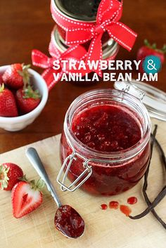 Strawberry Vanilla Bean Jam by Completely Delicious, via Flickr