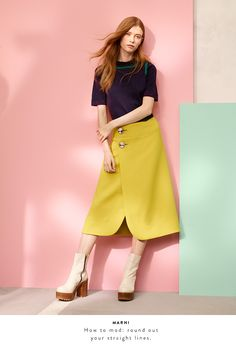 Resort 2016 designer collections: Marni sweater and skirt.