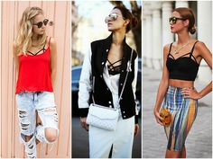 Look at the tip I gave up there: top strappy + pencil skirt <3