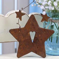 Rusty Tin Hanging Star