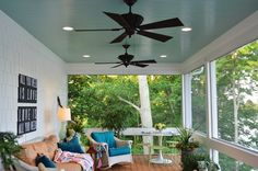 haint blue porch | For the Home / haint blue ceiling on sun porch - love the South =)