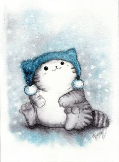 New funny art illustration kitty Ideas Funny Christmas Pictures, Christmas Pics, Gatos Cats, Super Cat, Funny Illustration, Illustration Pictures, Winter Illustration, Funny Art, Funny Pics