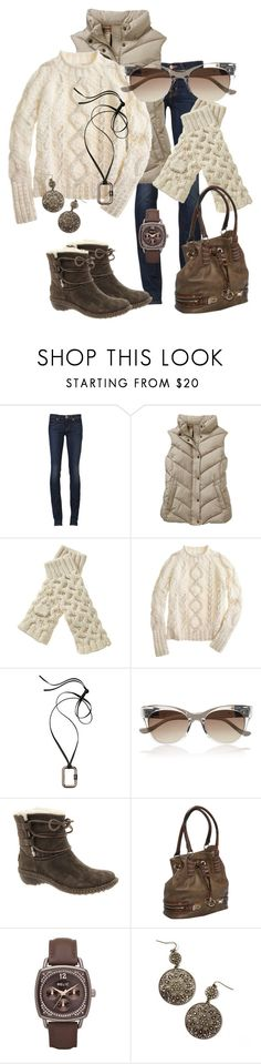 """""""Untitled #237"""" by alison-louis-ellis ❤ liked on Polyvore featuring J Brand, Gap, J.Crew, Reed Krakoff, The Row, UGG Australia, Melie Bianco, Relic and Club Monaco"""