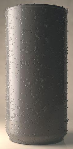 Nerken: Volume surface water drops. Origin: Cinema 4D - SpritZ! XPresso Rig