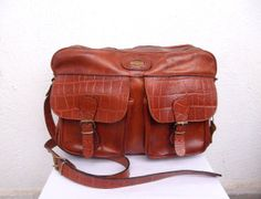 El Campero big leather satchel Italian by BlastFromThePastBags, $179.00