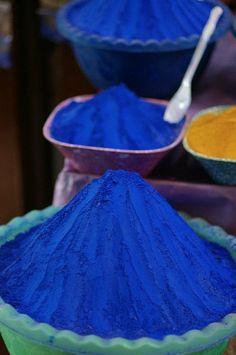 Mi color favorito(Spice market in Egypt - indigo. Azul Indigo, Bleu Indigo, Bleu Turquoise, Cobalt Blue, Cerulean, Blue Gold, Himmelblau, Blue Aesthetic, Something Blue