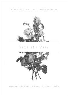 A floral Save the Date by ink the paperie Invite Design, Layout Design, Graphisches Design, Menu Design, Stationery Design, Branding Design, Logo Design, Wedding Cards, Wedding Invitations