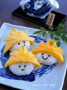 こどもの日に「薄焼き卵でたまご兜」を作ってみよう! Children's Day Japan, Cute Food, Yummy Food, Kids Menu, Kawaii, Child Day, Fruit Art, Creative Food, Baby Cakes