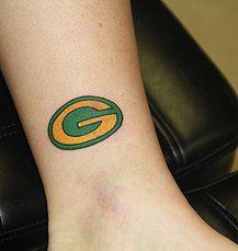 Green bay packers tattoo