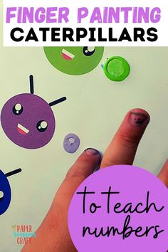 Finger Painting Caterpillars for preschoolers and toddlers, teach preschoolers how to count, preschoolers can learn their numbers with a simple activity, easy craft for preschoolers, easy craft for toddlers, teach kids how to count, printable for kids, printables for preschoolers, printables for toddlers, kids crafts Preschool Learning, Preschool Crafts, Teaching Kids, Crafts To Do, Easy Crafts, Crafts For Kids, Easy Toddler Crafts, Learn To Count, Finger Painting
