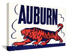Vintage Auburn Art.  The best football gifts! http://www.bestfootballgift.com/ best football gifts in America! #47straight #gifts