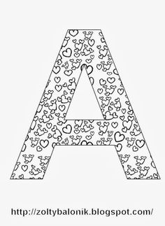 alfabet Coloring Letters, Coloring Books, Coloring Pages, Colouring, Printable Alphabet Letters, Alphabet Stencils, Preschool Writing, Color Quotes, Colored Pencils