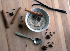 Stir together a few different grains, water, maple syrup and stud with whole autumn spices, turn the slow-cooker on low and by morning you will be lured out of bed by the seductive scent of cinnamon, cloves, star anise, ginger and vanilla.