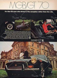 MGB Vintage Advertisement