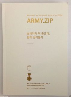 BTS Bangtan Boys Official Fanclub A.R.M.Y 2nd Membership Kit Event book ARMY.ZIP