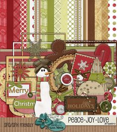Peace Joy Love Digital Scrapbook Kit by DesignsbyLisaMinor on Etsy, $4.50