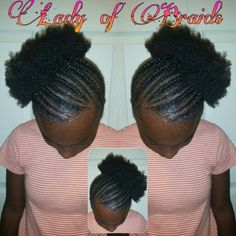 Natural braids hairstyles little girls cornrows #protectivestyle