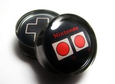 Nintendo Controller Plugs- 1 Pair (2 plugs) - 2g, 0g, 00g, 7/16, 1/2, 9/16, 5/8, 3/4, 7/8, 1 inch on Etsy, $18.95