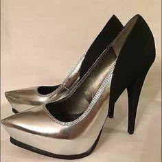 Sam Edelman leather n suede heels sz 8 Brand New! Sam Edelman Circus. Silver & black heels! Be a head turner ! These heels do make a statement! Sam Edelman Shoes Heels