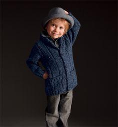 Modèle veste à poches enfant - Modèles tricot enfant - Phildar