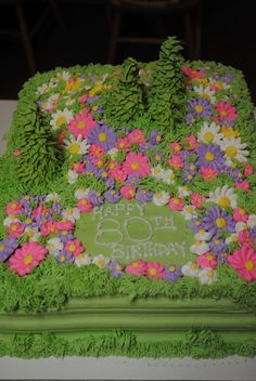 Cake Appeal Mountain Meadow Birthday Cake
