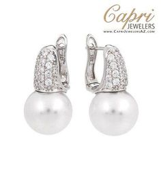 Pearl Candy White Earrings by Belle Étoile only $150 exclusively at Capri Jewelers Arizona ~ http://www.caprijewelersaz.com/Belle-Etoile-Earrings/Pearl-Candy/35602032/EN (click on this link for more color options)  Great for Weddings. Holiday Gift Ideas, Silver Jewelry. Fashion Jewelry. Pearl Earrings. Bridesmaid jewelry. Bridesmaid Gifts