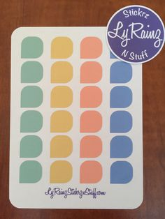 Color Palette Tear Drops (Sheet of 24) Passion Planner, Erin Condren, Filofax.....etc by LyRainzStickrzNStuff on Etsy