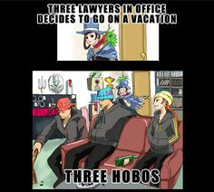 Meanwhile at Wright Anything Agency by TerRajin on deviantART | //Snickers// Apollo's hair, though...