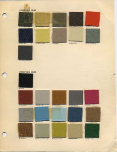 original Eames fiberglass colors.....