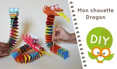 DIY video: discover the dragon tutorial dancing and parade for the Chinese new year. Paper Dragon Craft, Dragon Crafts, New Year's Crafts, Crafts For Kids, Chinese New Year Activities, International Craft, Chinese New Year Crafts, World Thinking Day, Puppet Crafts