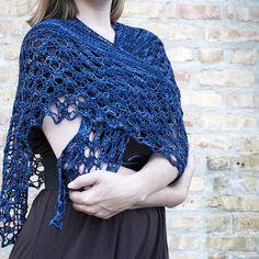 Cathy Lace Shawlette Knitting Pattern