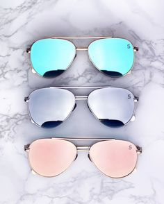 be1384fbfd1 Flat lens mirrored aviators! Shop the Bermuda shades now Girls Sunglasses