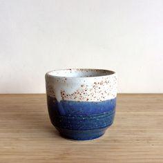 stoneware matt white / blue pottery / ceramics