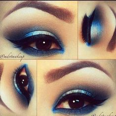 Cool Shades of Blue Eyeshadow Tutorial | AmazingMakeups.com