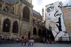 Street art parisiense  Grupo de amigos registram arte de rua pela cidade