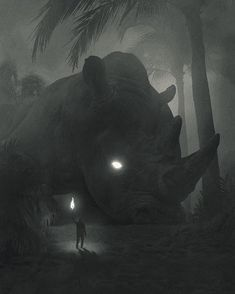 """1,259 Likes, 5 Comments - ⛩ Welcome to my page! ⛩ (@art.cave) on Instagram: """"""""Returning to the Jungle"""" Art by Dawid Planeta #cthulhu #ghost #fantasy #fantasyart #nature…"""""""