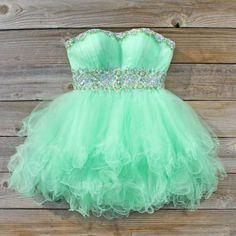 Spool Couture Mint Goddess Dress, Sweet Women's Party Dresses