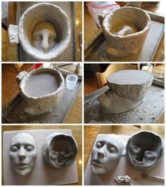 I realized I never posted these?? A friend is working on some similar prosthetics so I thought to post them. This was me making the mold of the (second version of my) nose prosthetic for my Pitch Black cosplay. I made the chin piece in separate mold (but you can see it on the sculpt here anyway as it was waiting for that). Any info on my makeup that I postedor answeredis in the prosthetics tag on my blog.I built up a wall, aka a mold box, using water clay (aka any good fine ceramic clay) and…