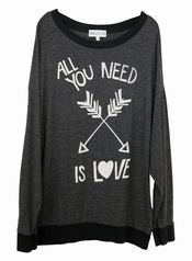 Anything oversized. And wildfox <3