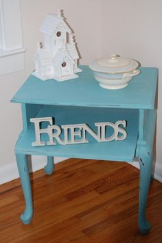 Night stand painted with Chalk Paint® color Provence