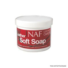 NAF Leather Soft Soap 400g A unique soft formula to clean and enrich leatherwork Lifts dirt and grease from the leather while softening