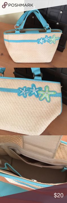 Talbots bag Darling straw bag from Talbots barely used Talbots Bags