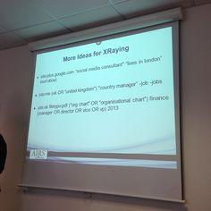 Xraying social media sites #discsource Credit: @Martin Couzins