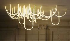 To know more about Mathieu Lehanneur Les Cordes chandelier, visit Sumally, a social network that gathers together all the wanted things in the world! Featuring over 21 other Mathieu Lehanneur items too! Neon Lighting, Interior Lighting, Home Lighting, Lighting Design, Unique Lighting, Green Design, Mathieu Lehanneur, Deco Led, Neon Licht