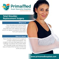 The goal of shoulder replacement surgery is to restore the best possible function to the joint by removing scar tissue, balancing muscles and replacing the destroyed joint surfaces with artificial ones.