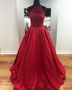 Elegant Prom Dresses, A-line Red Taffeta Prom Dresses Long Backless Beaded Party Dresses Halter Evening Dresses Formal Gowns Shop for La Femme prom dresses. Elegant long designer gowns, sexy cocktail dresses, short semi-formal dresses, and party dresses. Dresses Short, A Line Prom Dresses, Formal Dresses For Women, Cheap Prom Dresses, Formal Evening Dresses, Tight Dresses, Sexy Dresses, Party Dresses, Formal Gowns