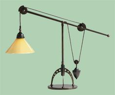 pulley task table lamp uses a filament bulb to reinforce. Black Bedroom Furniture Sets. Home Design Ideas