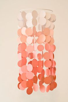 Coral Ombre Paper Crib Mobile Modern circle by FourGlitteredGeese Baby Boys, My Baby Girl, Shower Inspiration, Nursery Inspiration, Nursery Ideas, Nursery Decor, Bedroom Ideas, Coral Nursery, Sea Nursery