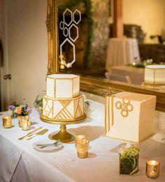 roche harbor wedding, resort wedding, pnw wedding, geometric cake, wedding cake tends 2017, gold wedding cake, @modwedding